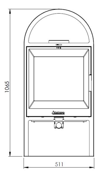 Kaminofen Aduro 14.1 schwarz Stahl 6,5kW Bild 3