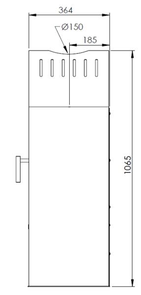 Kaminofen Aduro 14.1 schwarz Stahl 6,5kW Bild 4