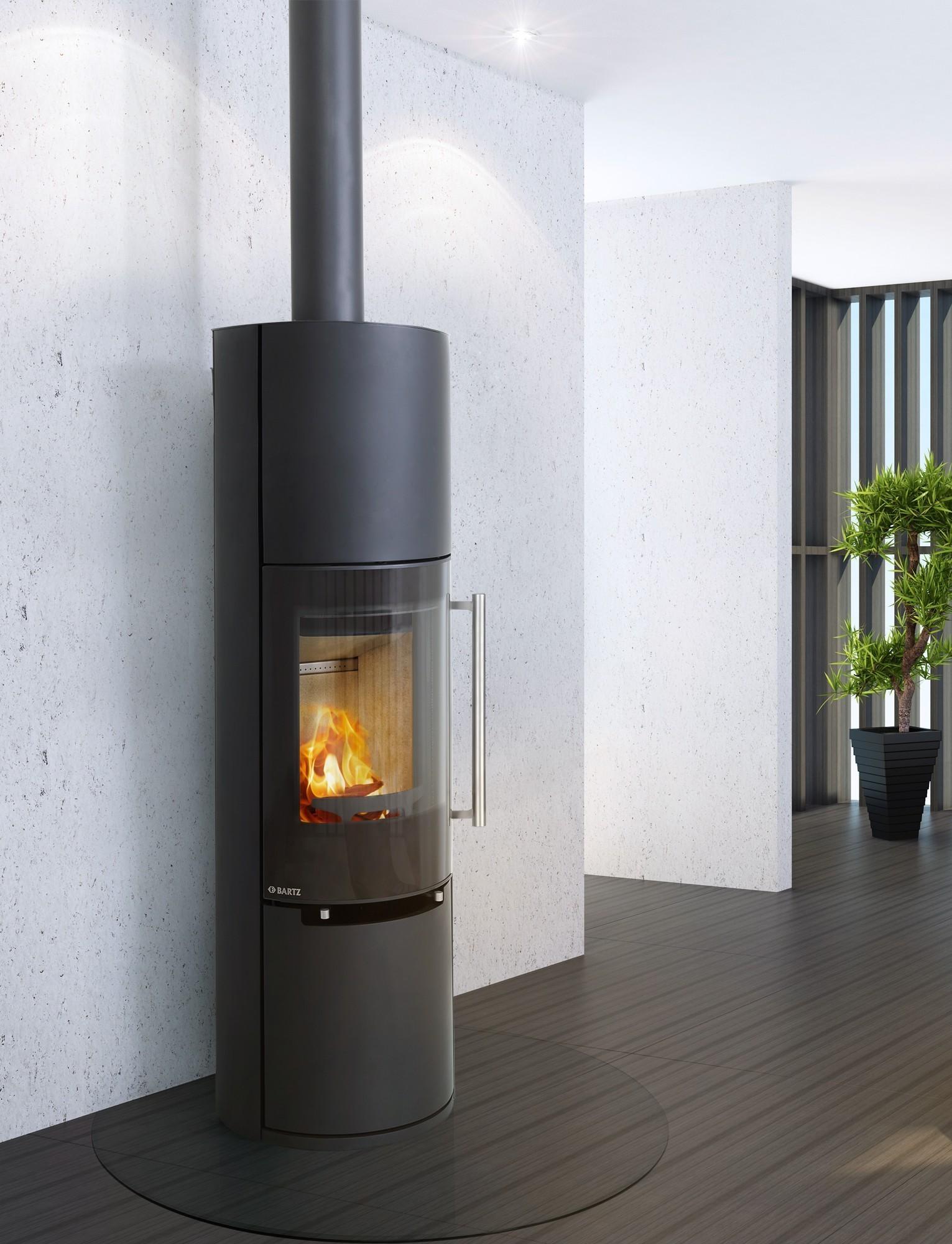 kaminofen bartz linz raumluftunabh ngig stahl schwarz 7kw. Black Bedroom Furniture Sets. Home Design Ideas