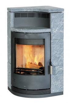 Kaminofen / Eckkaminofen Fireplace Lyon Speckstein 8kW Bild 1