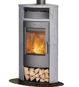 Kaminofen / Eckkaminofen Fireplace Malta Speckstein gussgrau 6kW Bild 1