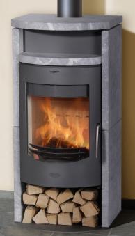 Kaminofen Fireplace Barcelona Speckstein gussgrau 8kW Bild 1