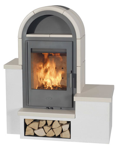 Kaminofen Fireplace Serena Keramik Beige 7kW Bild 1
