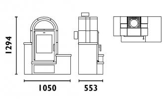 Kaminofen Fireplace Serena Keramik Beige 7kW Bild 4