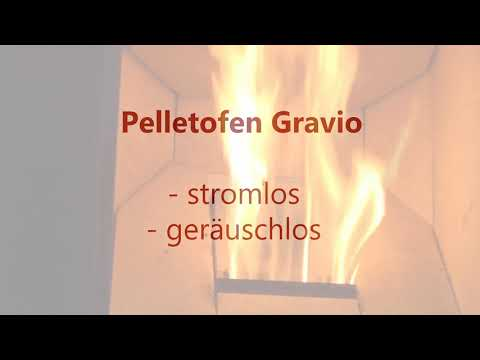 Pelletofen Fireplace Gravio schwarz Edelstahl 8kW Video Screenshot 2052
