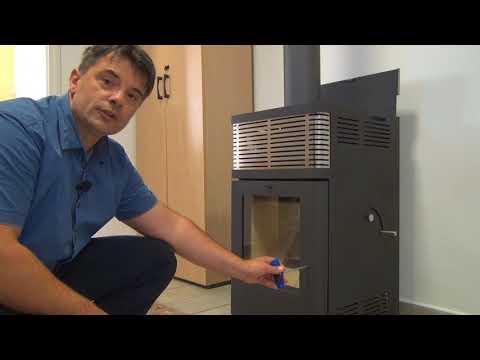 Pelletofen Fireplace Gravio schwarz Edelstahl 8kW Video Screenshot 2054