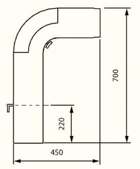 Ofenrohr / Rauchrohr - Set Fullform Ø150mm Senotherm schwarz