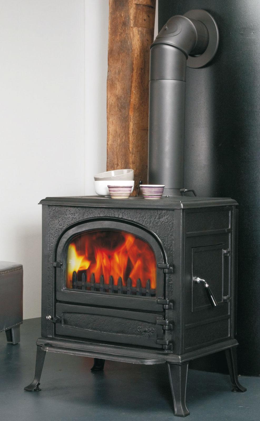 kaminofen globe fire neptun raumluftunabh ngig vollguss schwarz 7kw bei. Black Bedroom Furniture Sets. Home Design Ideas