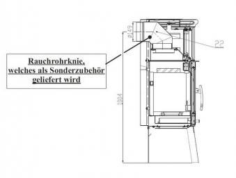 Ofenrohr Bogenknie Spezial 90° Ø 150mm schwarz Haas+Sohn Bild 2