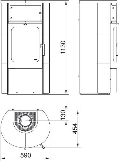 kaminofen dauerbrandofen hark barolo creme wei 5 kw bei. Black Bedroom Furniture Sets. Home Design Ideas