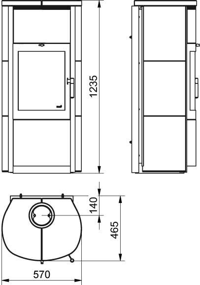 kaminofen dauerbrandofen hark keno ecoplus keramik stone. Black Bedroom Furniture Sets. Home Design Ideas