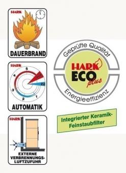Dauerbrandofen Hark Avenso ECOplus bordeaux-rot raumluftunabhängig 8kW Bild 3