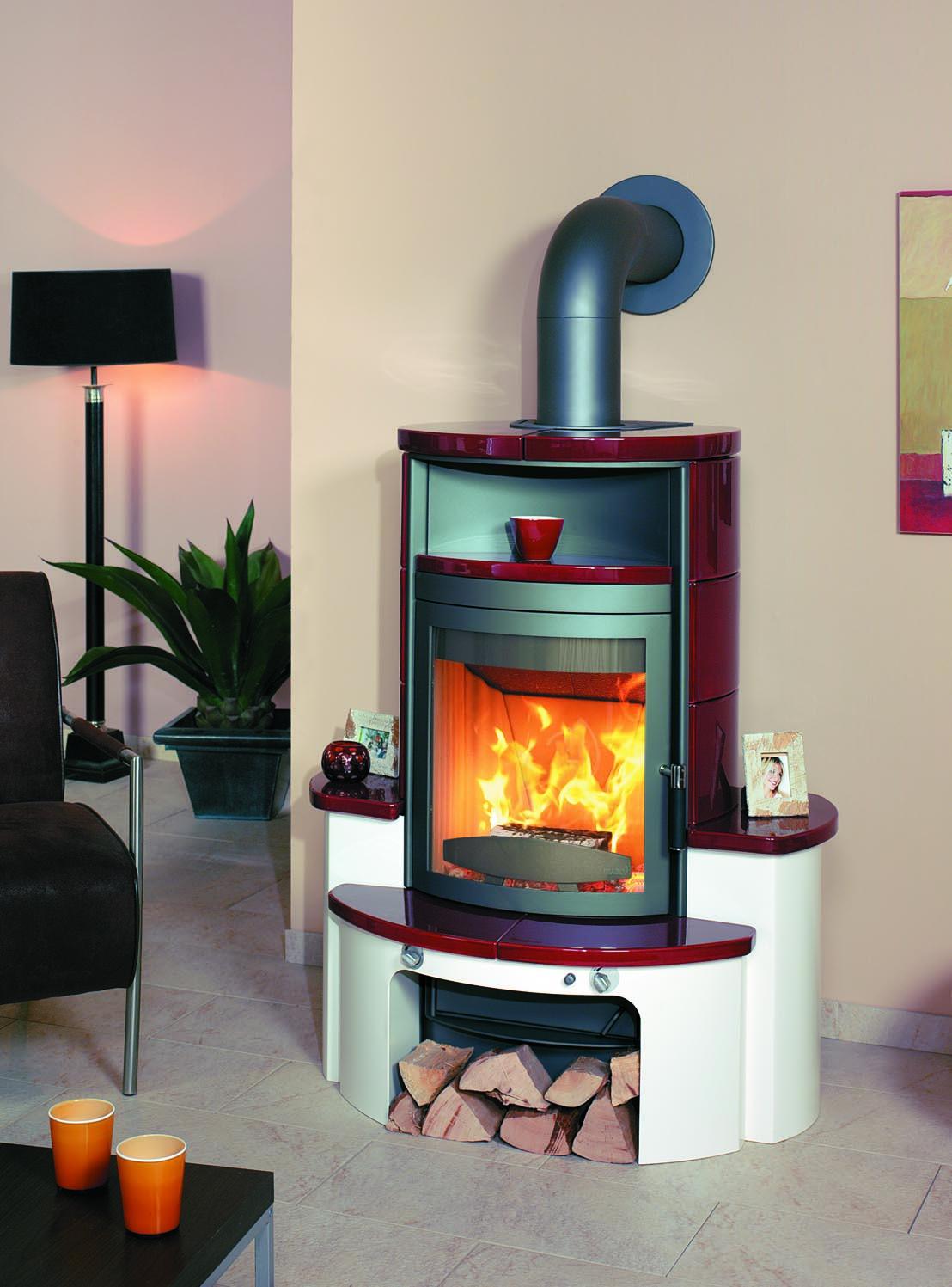 kaminofen dauerbrandofen hark avenso ecoplus keramik bordeaux 8 kw bei. Black Bedroom Furniture Sets. Home Design Ideas