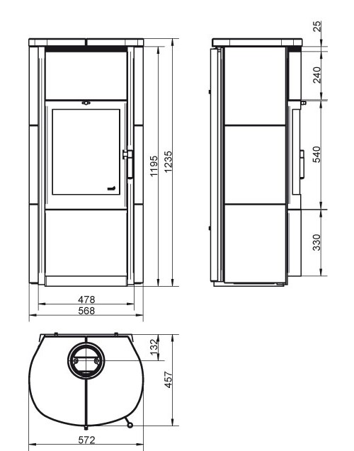 Kaminofen / Dauerbrandofen Hark Keno ECOplus creme-weiß 5kW Bild 2