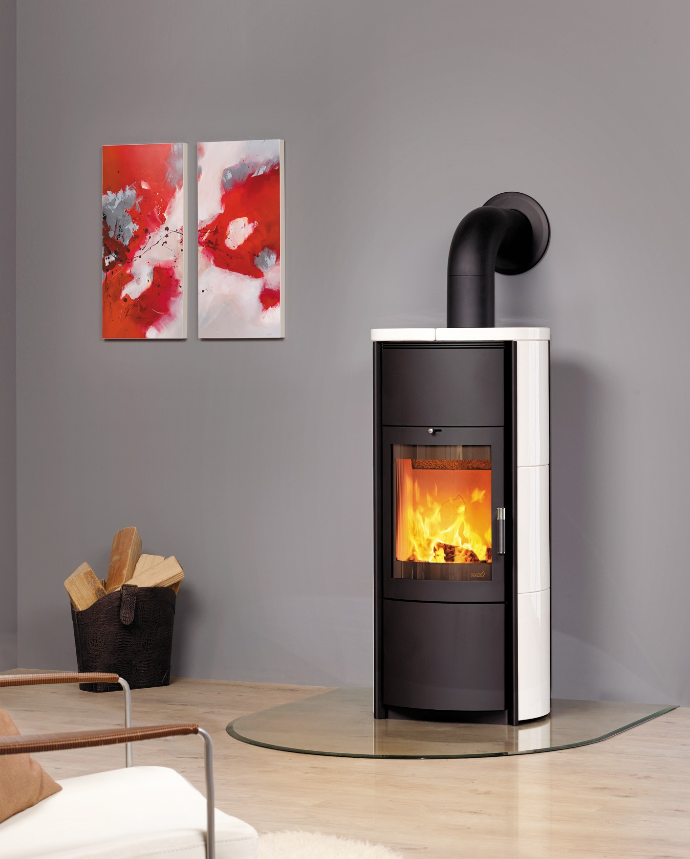 Favorit Kaminofen / Dauerbrandofen Hark Keno ECOplus Keramik creme-weiß 7 DD18