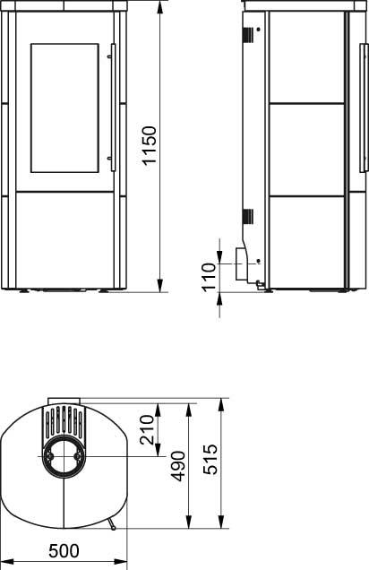 Kaminofen / Dauerbrandofen Hark Lova RUA ECOplus m-schwarz 6 kW DIBt Bild 2