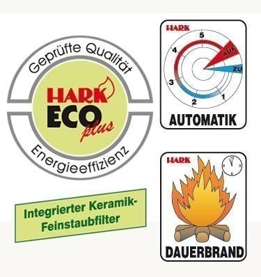 Kaminofen / Dauerbrandofen Hark Nika ECOplus creme-weiß 7 kW Bild 3