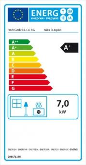 Kaminofen / Dauerbrandofen Hark Nika ECOplus creme-weiß 7 kW Bild 4