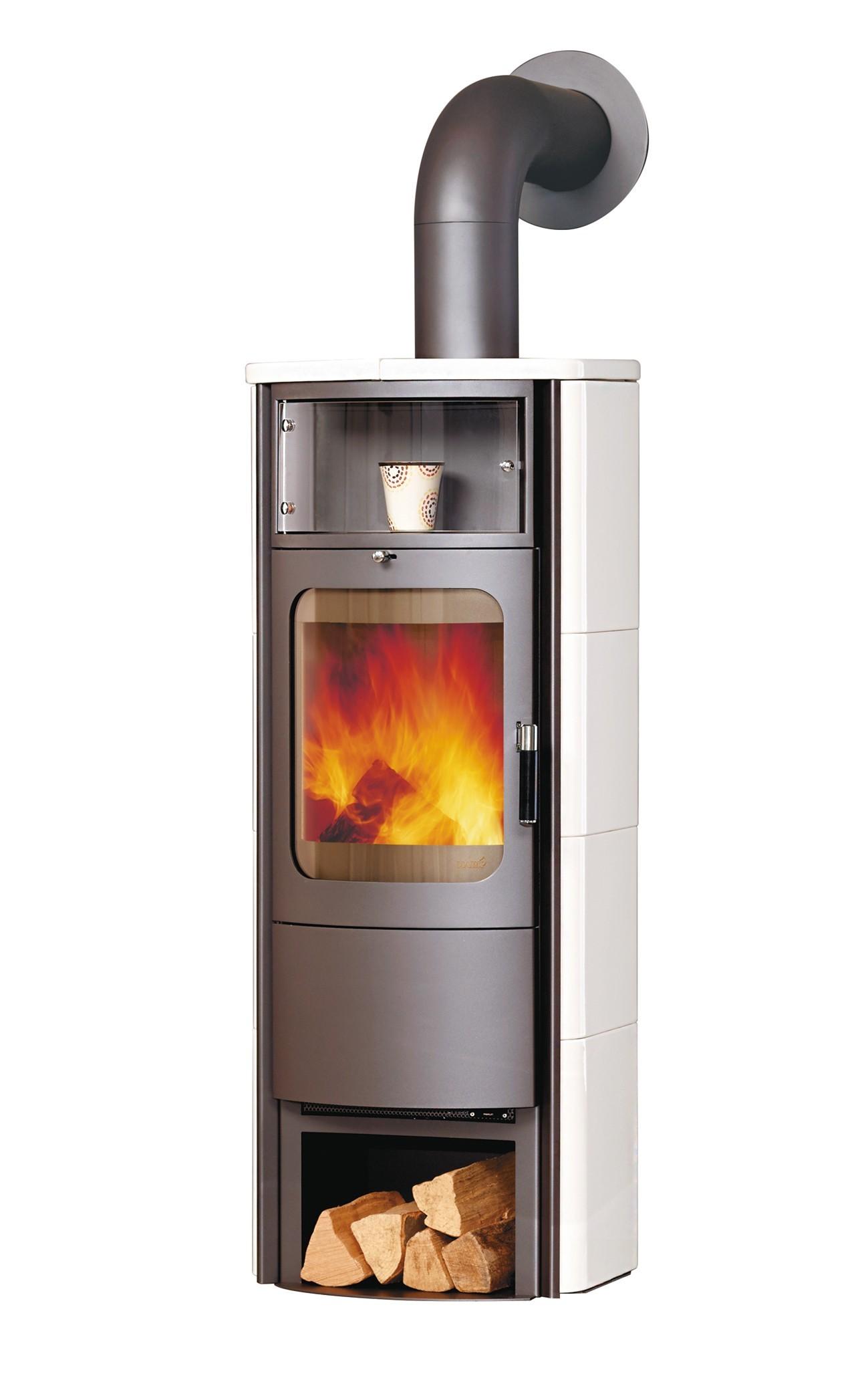 Kaminofen / Dauerbrandofen Hark Opera-B Grande Keramik creme-weiß 7 kW Bild 1
