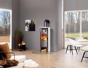 Kaminofen / Dauerbrandofen Hark Opera-B Grande Keramik creme-weiß 7 kW Bild 2