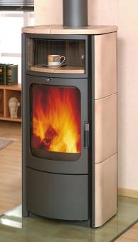 Kaminofen / Dauerbrandofen Hark Opera-B Keramik creme 5 kW Bild 1