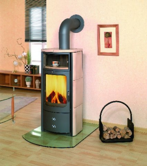 Kaminofen / Dauerbrandofen Hark Opera-B Keramik creme 7 kW Bild 1