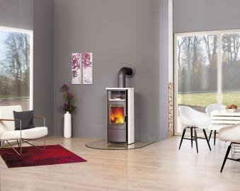 Kaminofen / Dauerbrandofen Hark Opera-B Keramik creme-weiß 5 kW Bild 2
