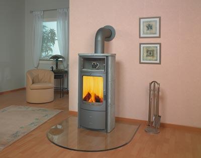kaminofen dauerbrandofen hark opera b silbergrau naturstein 7kw bei. Black Bedroom Furniture Sets. Home Design Ideas