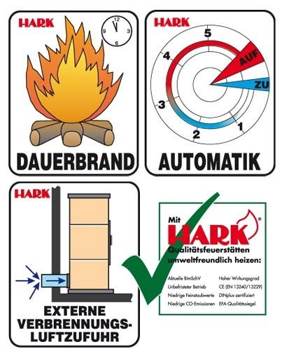 Kaminofen hark kaminofen 5 kw : Kaminofen / Dauerbrandofen Hark Taifun graphit / creme 8kW - bei ...