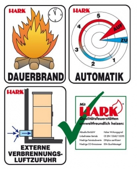 Kaminofen / Dauerbrandofen Hark Taifun raumluftunabhängig creme 8 kW Bild 3