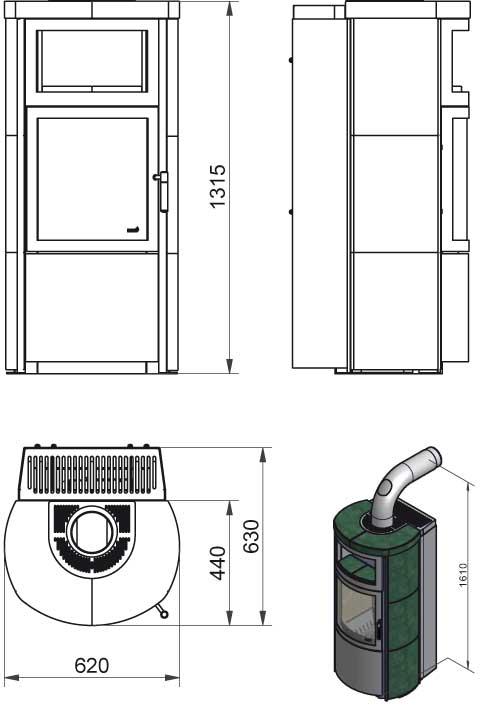 kaminofen hark vito ww ecoplus wasserf hrend keramik negro. Black Bedroom Furniture Sets. Home Design Ideas