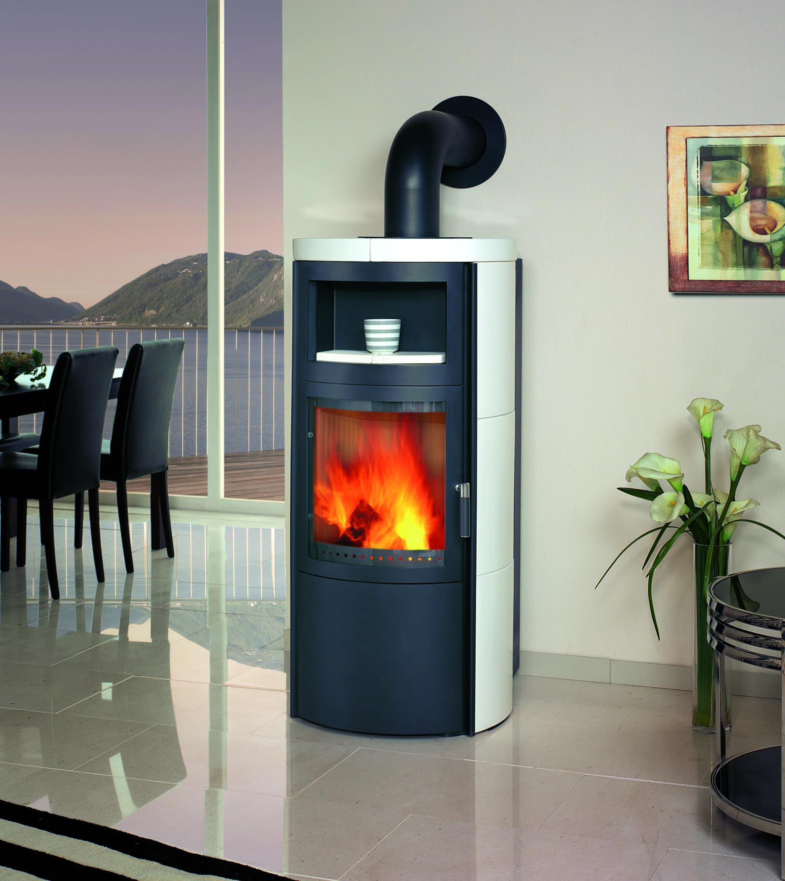 kaminofen hark vito ww ecoplus wasserf hrend keramik creme. Black Bedroom Furniture Sets. Home Design Ideas