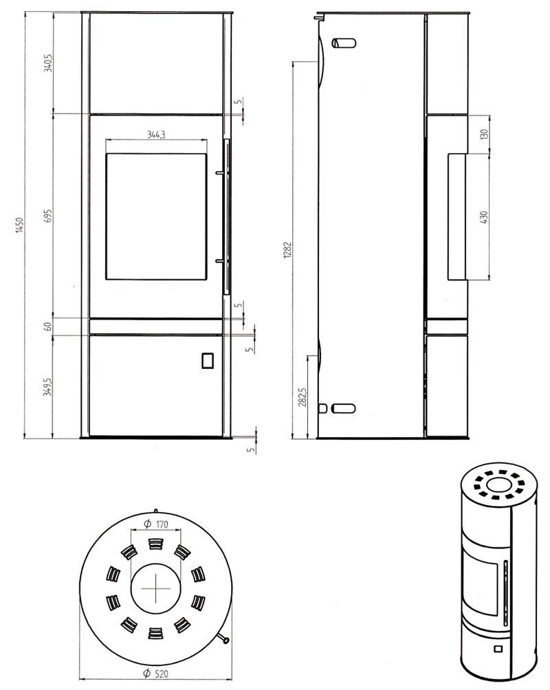 kaminofen justus faro w raumluftunabh ngig grau speckstein 7 kw bild. Black Bedroom Furniture Sets. Home Design Ideas