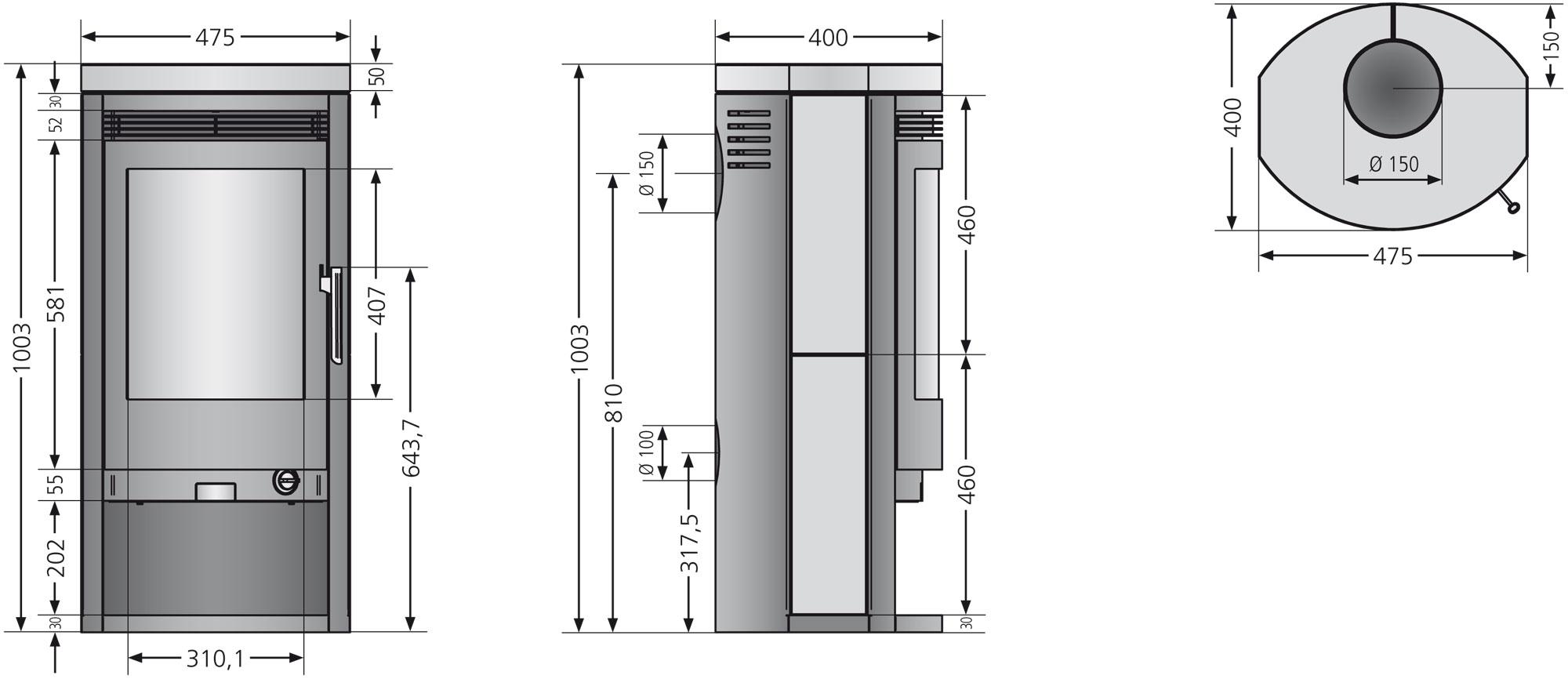 Kaminofen / Dauerbrandofen Justus Baltrum D Stahl 5 kW Bild 2