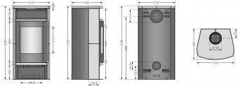 Kaminofen Justus Faro Aqua 2.0 wasserführend grau Speckstein 8,5kW Bild 2