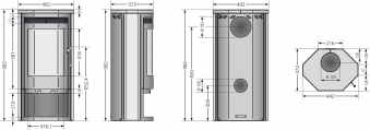 Kaminofen Justus Usedom 5 raumluftunabhängig Stahl schwarz 5kW Bild 3