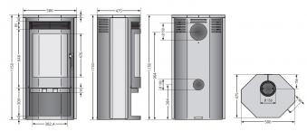Kaminofen Justus Usedom 7 raumluftunabhängig Stahl gussgrau 7 kW Bild 2