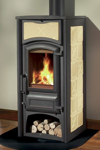 kaminofen la nordica fiorella keramik vanille 6kw bei. Black Bedroom Furniture Sets. Home Design Ideas