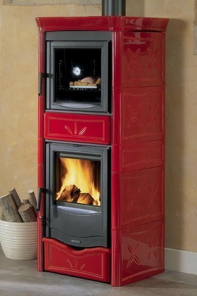 kaminofen backfach la nordica nicoletta forno keramik. Black Bedroom Furniture Sets. Home Design Ideas