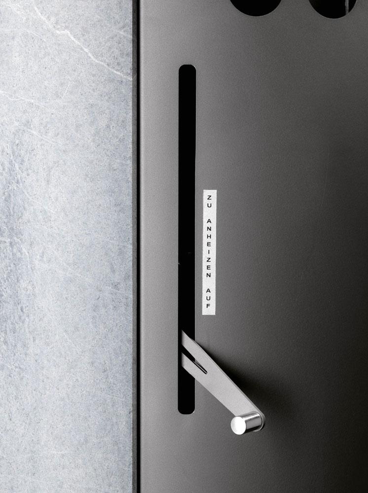 Kaminofen Oranier Polar Aqua wasserführend Stahl gussgrau 10kW Bild 2