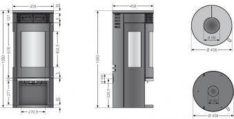 Kaminofen Oranier Rota Tre 2.0 raumluftunabhängig Glas 5,5kW Bild 2