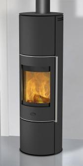 Kaminofen Fireplace Trondol wasserführend raumluftunabh. schwarz 8kW Bild 1