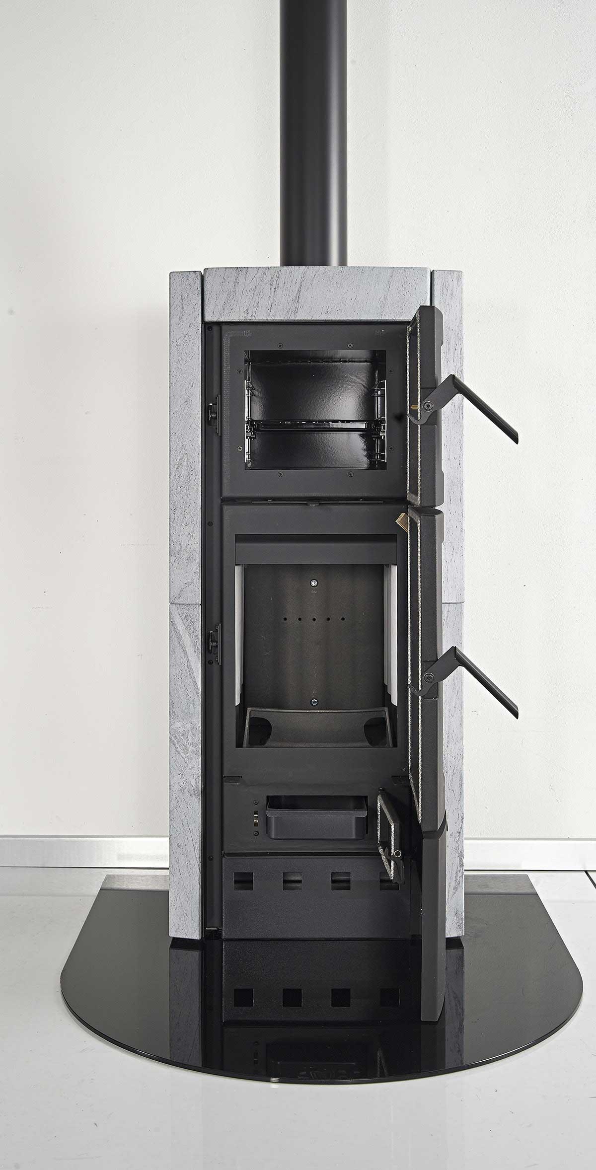 kaminofen la nordica ester forno raumluftun backf. Black Bedroom Furniture Sets. Home Design Ideas