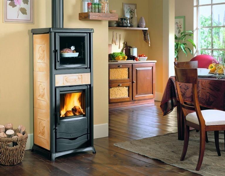 Kaminofen La Nordica Thermo Rossella Plus forno wasserf. perga. 13,5kW Bild 1