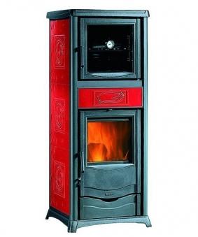 Kaminofen La Nordica Thermo Rossella Plus forno wasserf. rot 13,5kW Bild 1