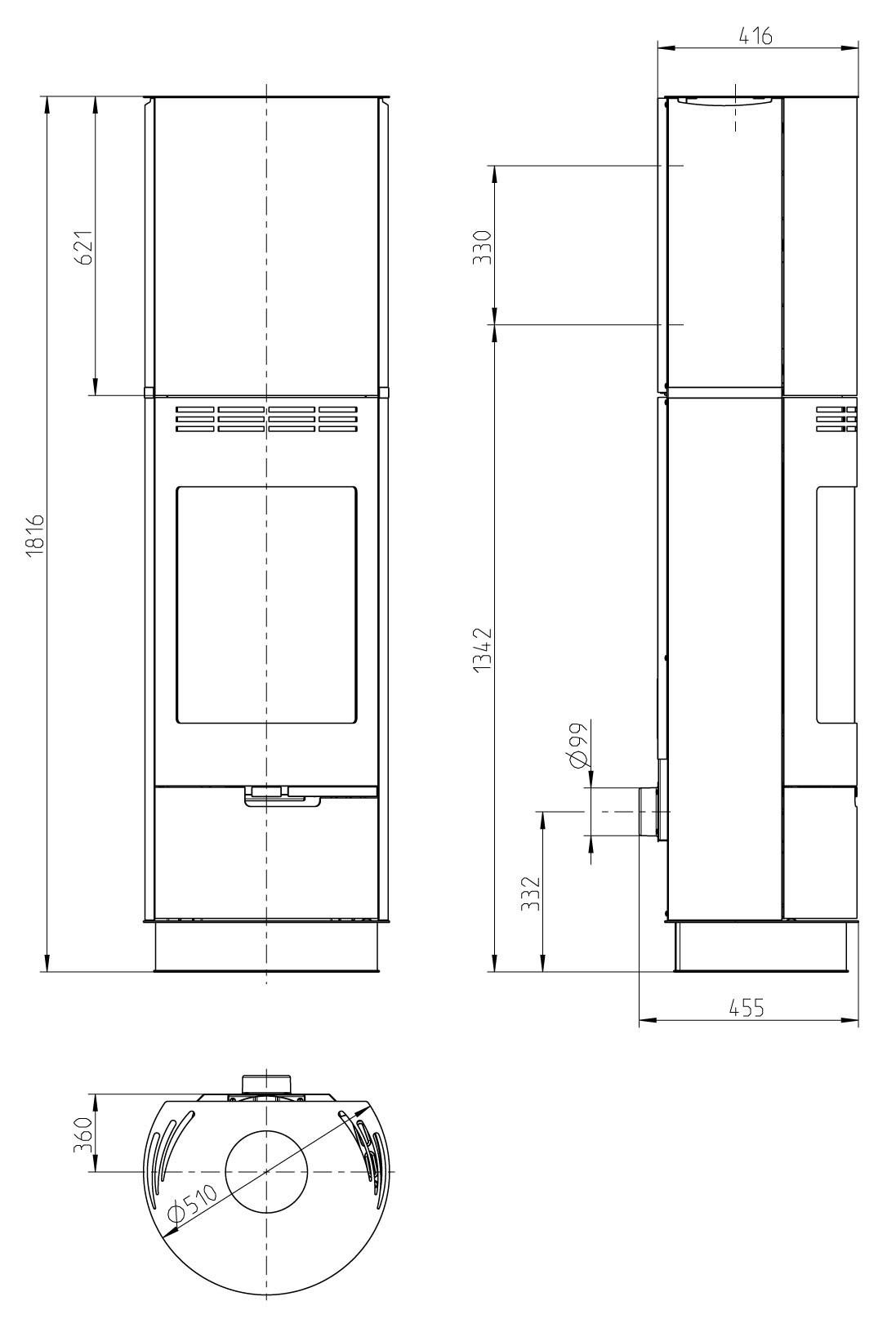 kaminofen thorma sevilla raumluftunabh ngig stahl gussgrau. Black Bedroom Furniture Sets. Home Design Ideas
