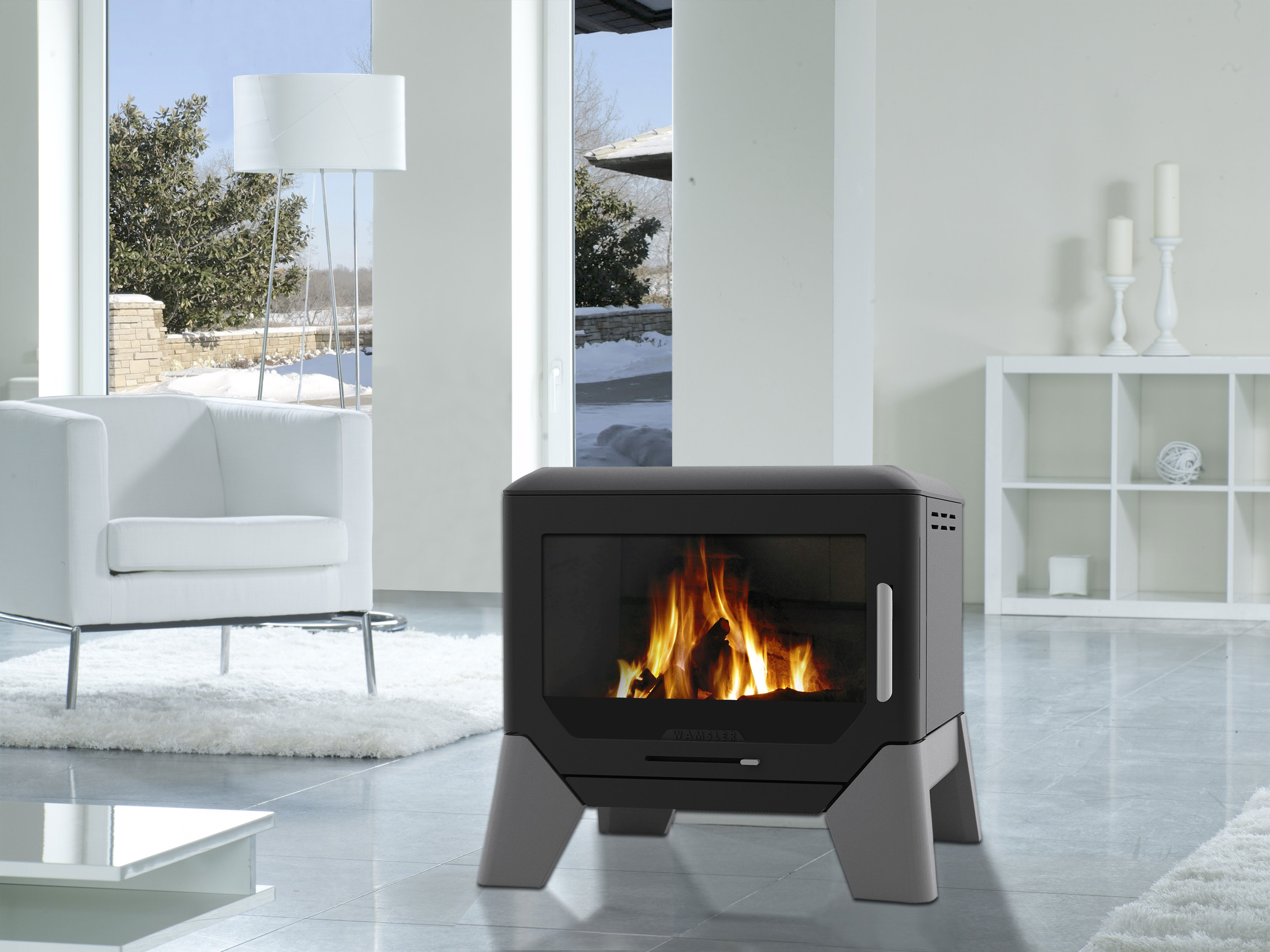 kaminofen wamsler f box 8 kw bei. Black Bedroom Furniture Sets. Home Design Ideas