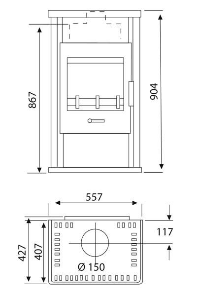 kaminofen wamsler jupiter schwarz 6 kw typ 10863 kf 108. Black Bedroom Furniture Sets. Home Design Ideas