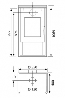 Kaminofen Wamsler KF 101 Orpheus OSF gussgrau / Speckstein 8 kW Bild 2