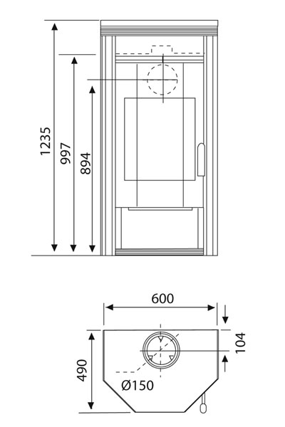 kaminofen wamsler kf 101 prisma psf w speckstein 8 kw. Black Bedroom Furniture Sets. Home Design Ideas